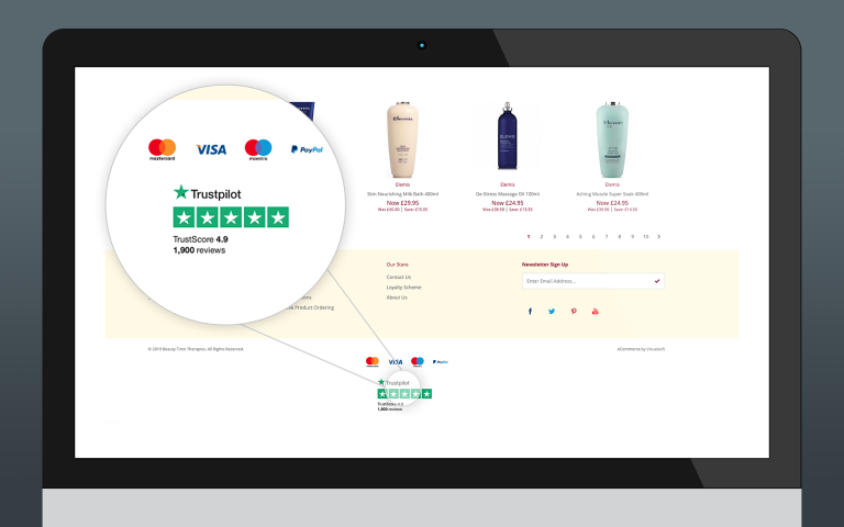 Trustpilot & Visualsoft - About the Integration section