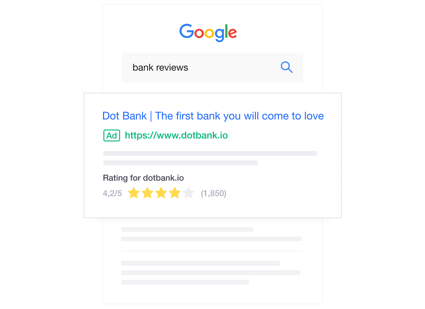 Trustpilot reviews and Google Seller Ratings