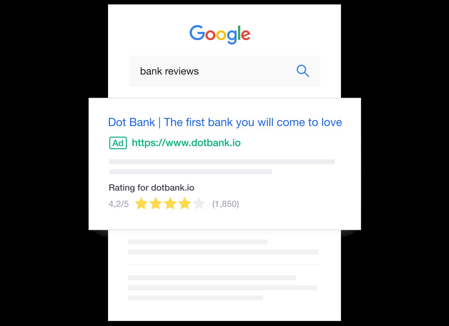 Trustpilot reviews and Google Seller Ratings