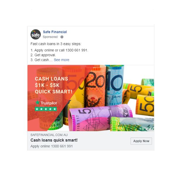 Safe Financial Facebook ads 2