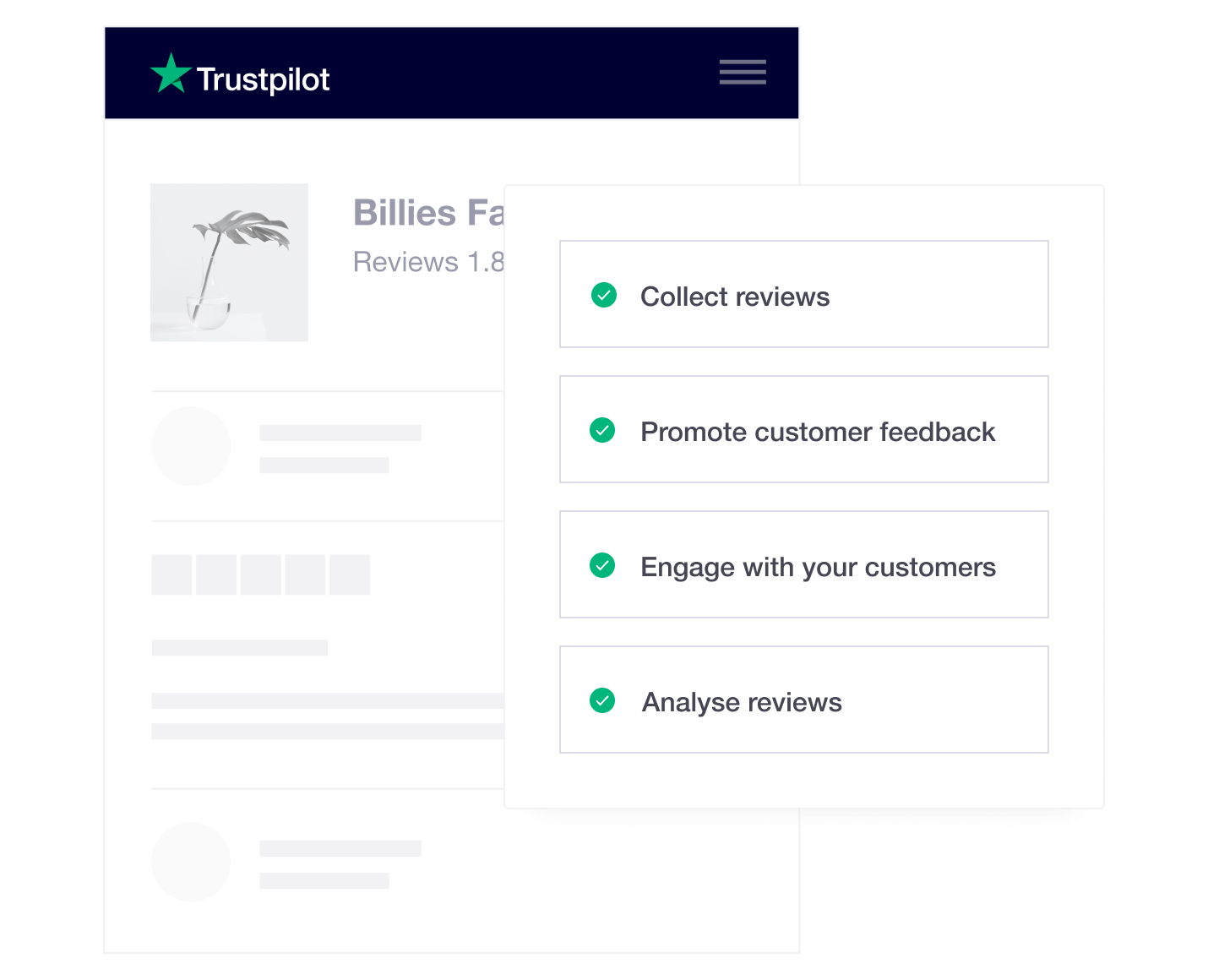Product illustration of Trustpilot review tools