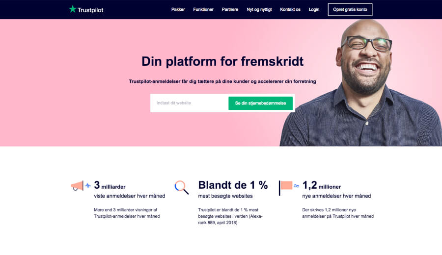 trustpilot bizweb frontpage screenshot dk 800x520