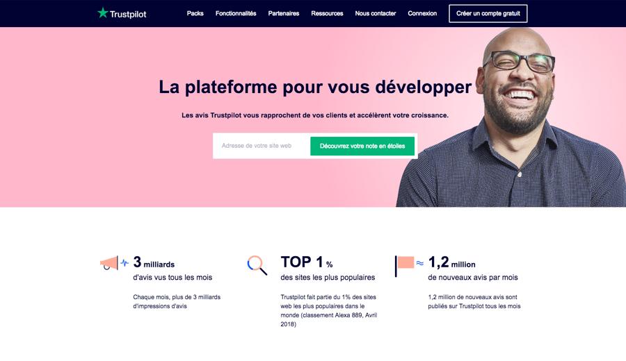 trustpilot bizweb frontpage screenshot fr 800x520