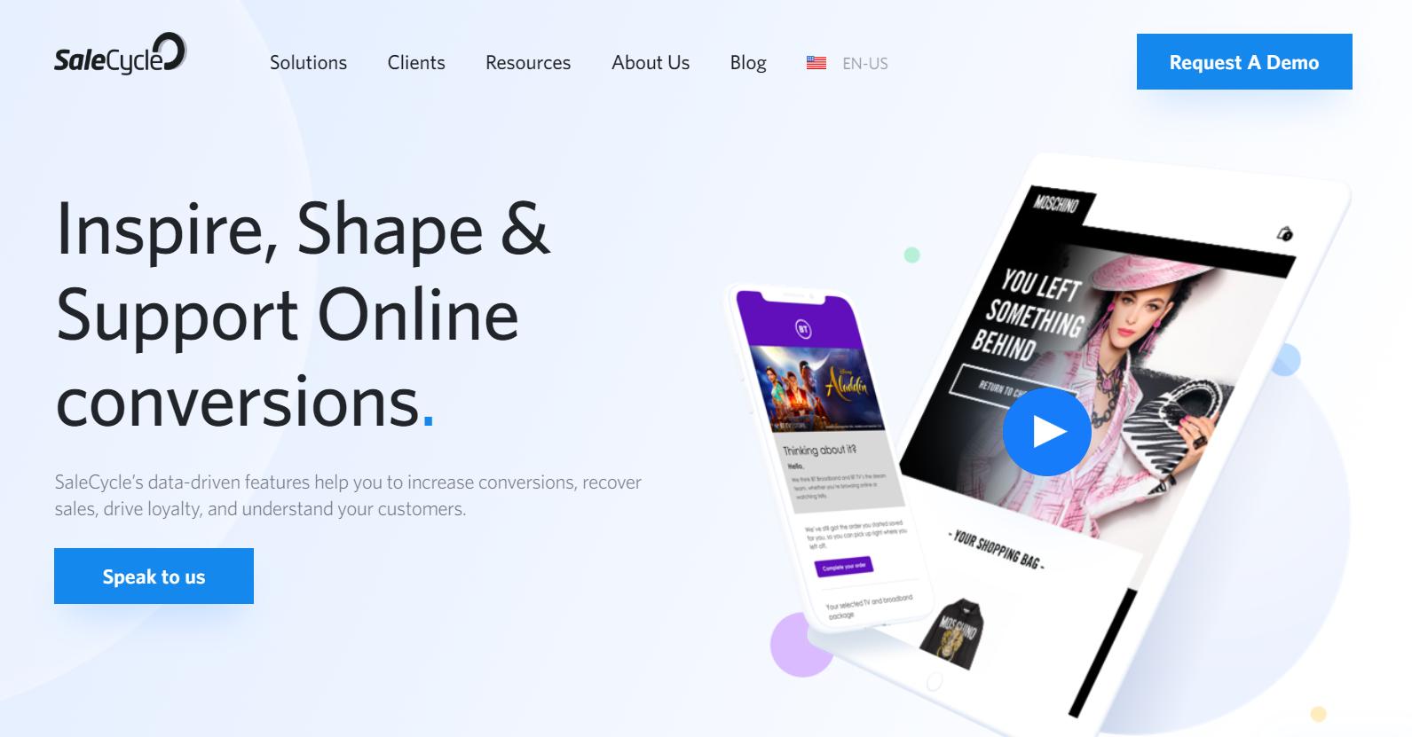 SaleCycle website screenshot
