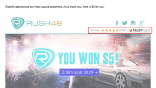 Rush49-email-marketing-example