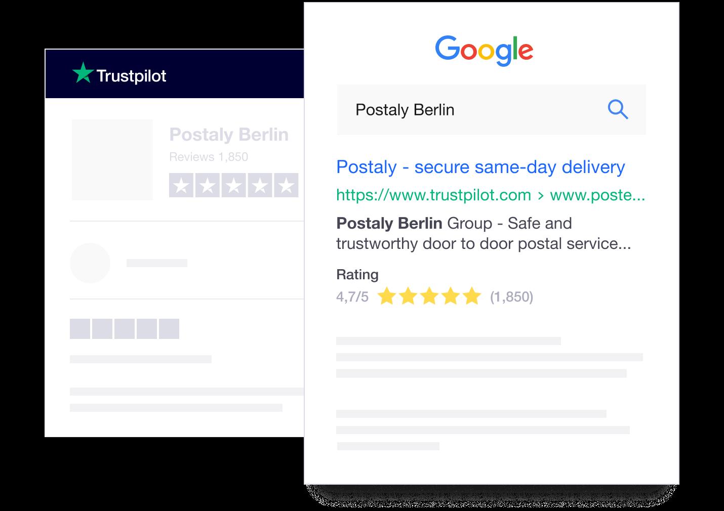 Trustpilot Location Reviews on Google Search (Local SEO)