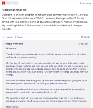 How to respond to negative reviews - example