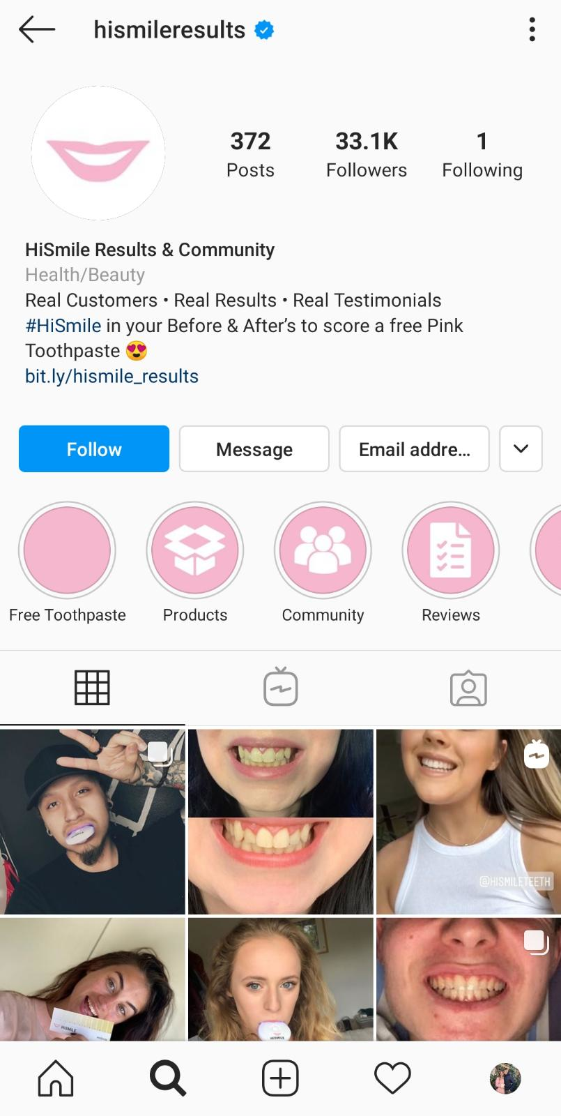 HiSmile stories and testimonials page