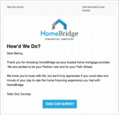 Homebridage review invitation