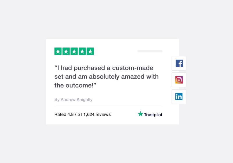 Trustpilot review on a social media integration