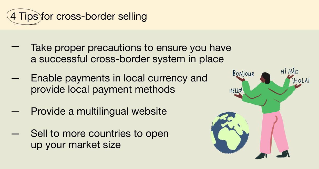 4 tips for cross-border selling