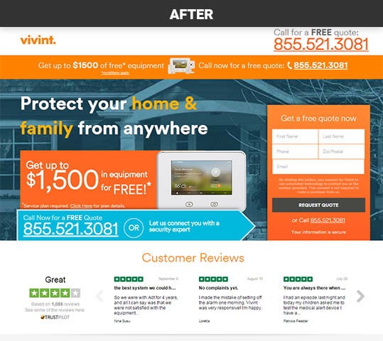 Vivint Customer Reviews