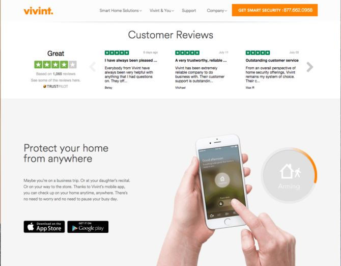 Vivint - Trustpilot customer reviews