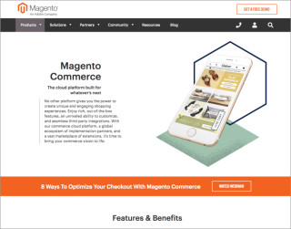 screenshot magento website 700x550