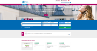 screenshot NMBS Europe pagina