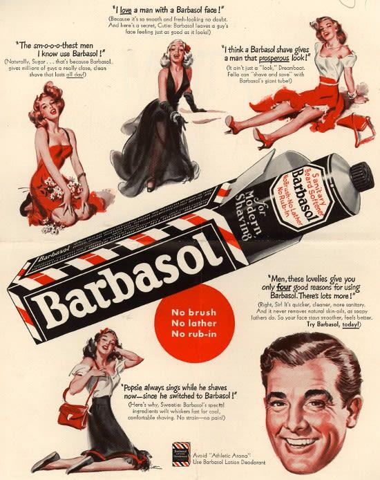Alte Werbeanzeige, vollgepackt mit Testimonials