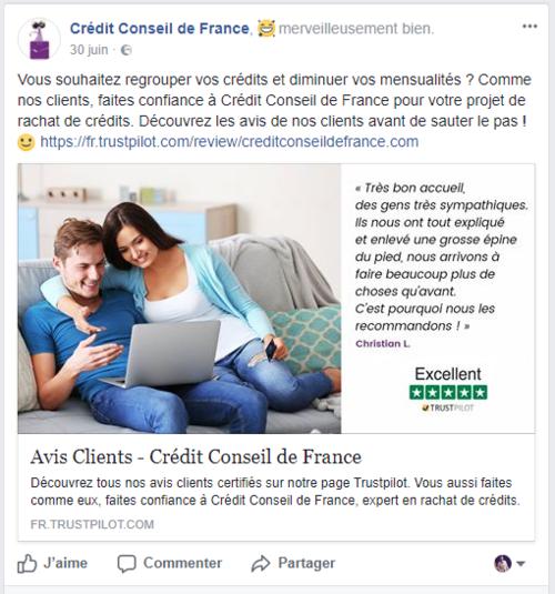partage+avis+client+trustpilot+credit+conseil+de+france+facebook