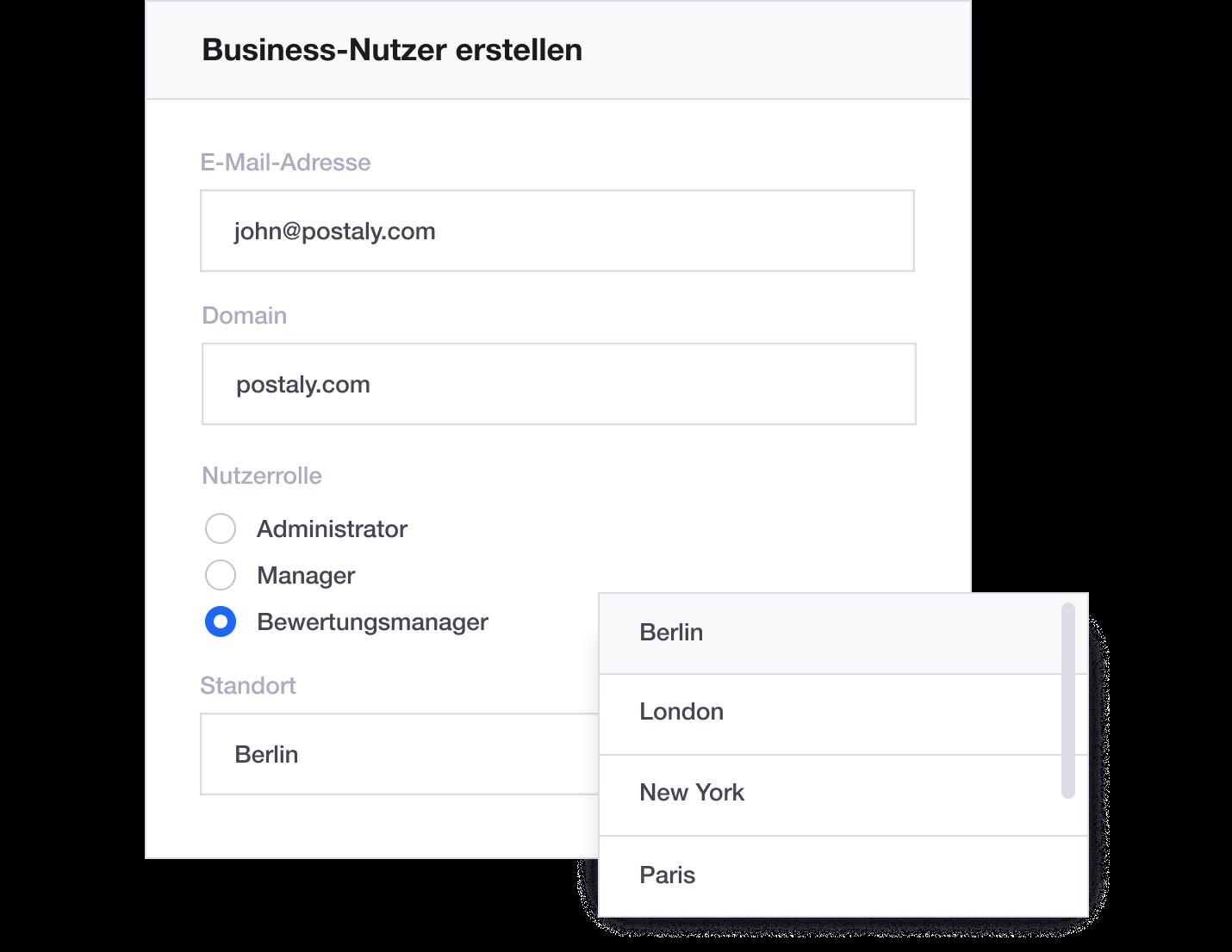 DE – User management roles