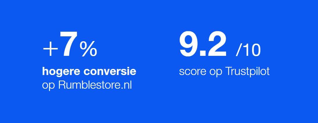Trustpilot - Rumble store Trustpilot score