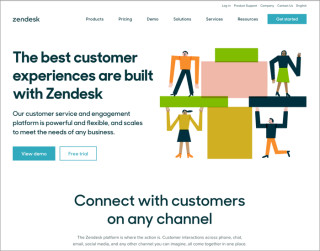 screenshot zendesk website 700x550