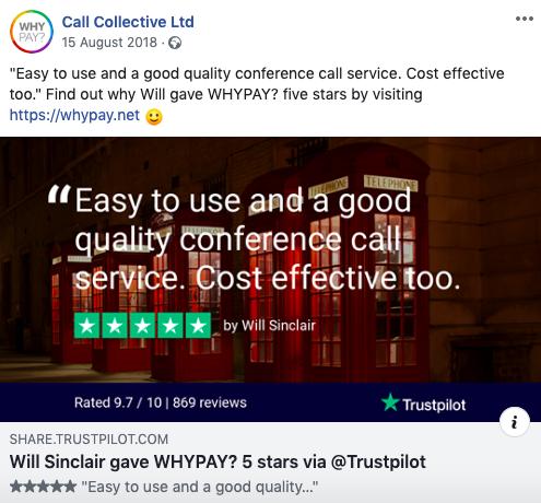 Sharing reviews on social media