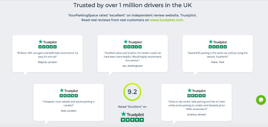 trustpilot reviews yourparkingspace