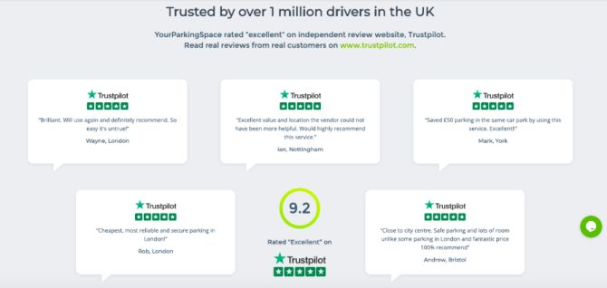 trustpilot reviews yourparkingspace