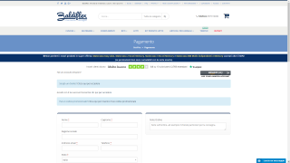 Screenshot of the checkout page from Baldiflex's website