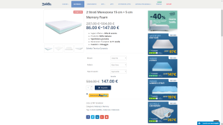 Screenshot of a product page in Baldiflex's website