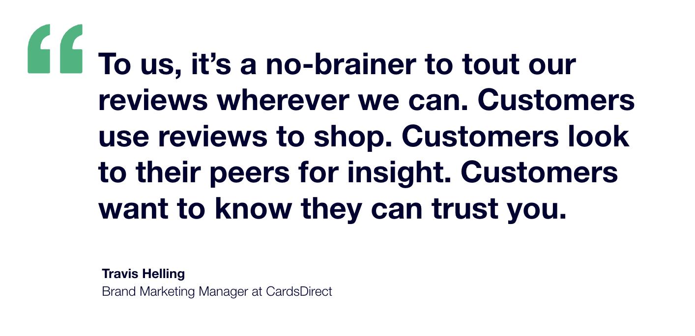 CardsDirect x Trustpilot Testimonial - Travis Helling Brand Marketing Manager