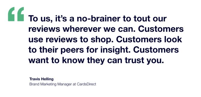 CardsDirect x Trustpilot Testimonial - Travis Helling Brand Marketing Manager