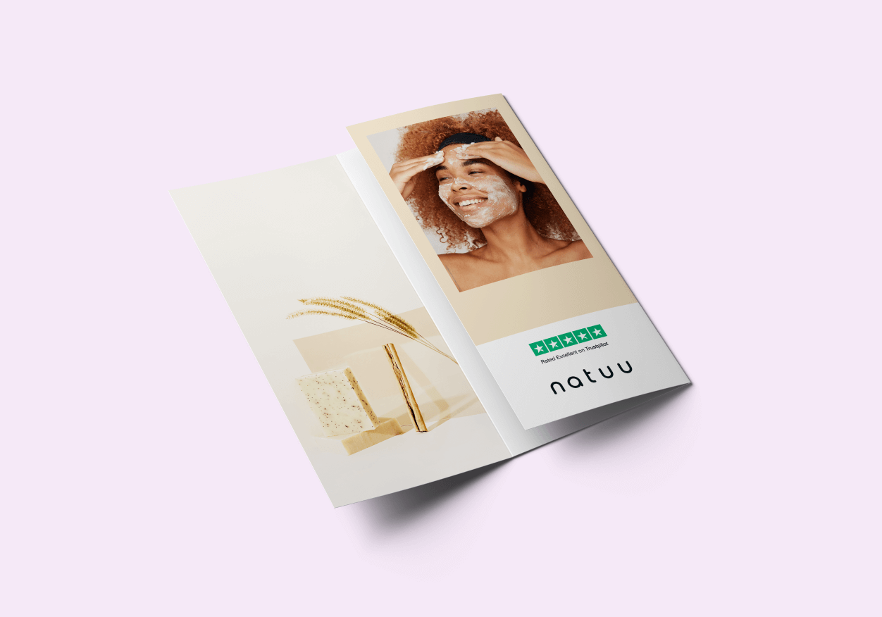 Trustpilot rating on a brochure
