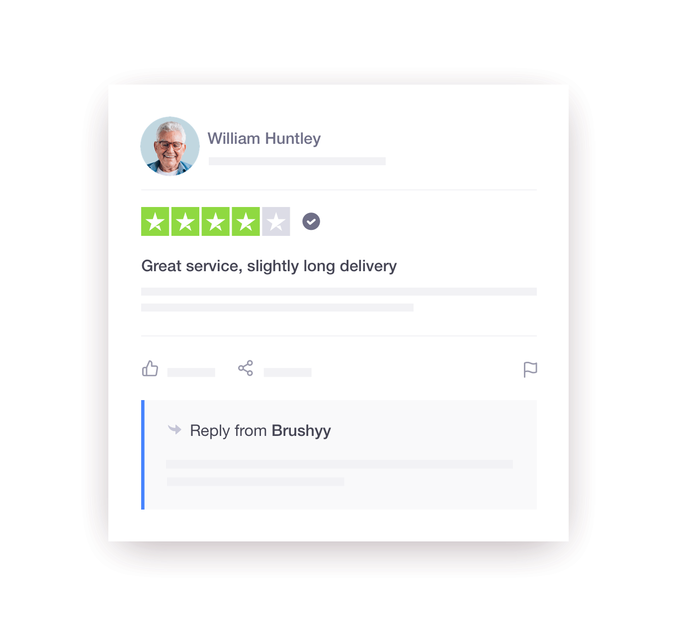 Trustpilot review response example