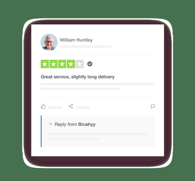Trustpilot review response example