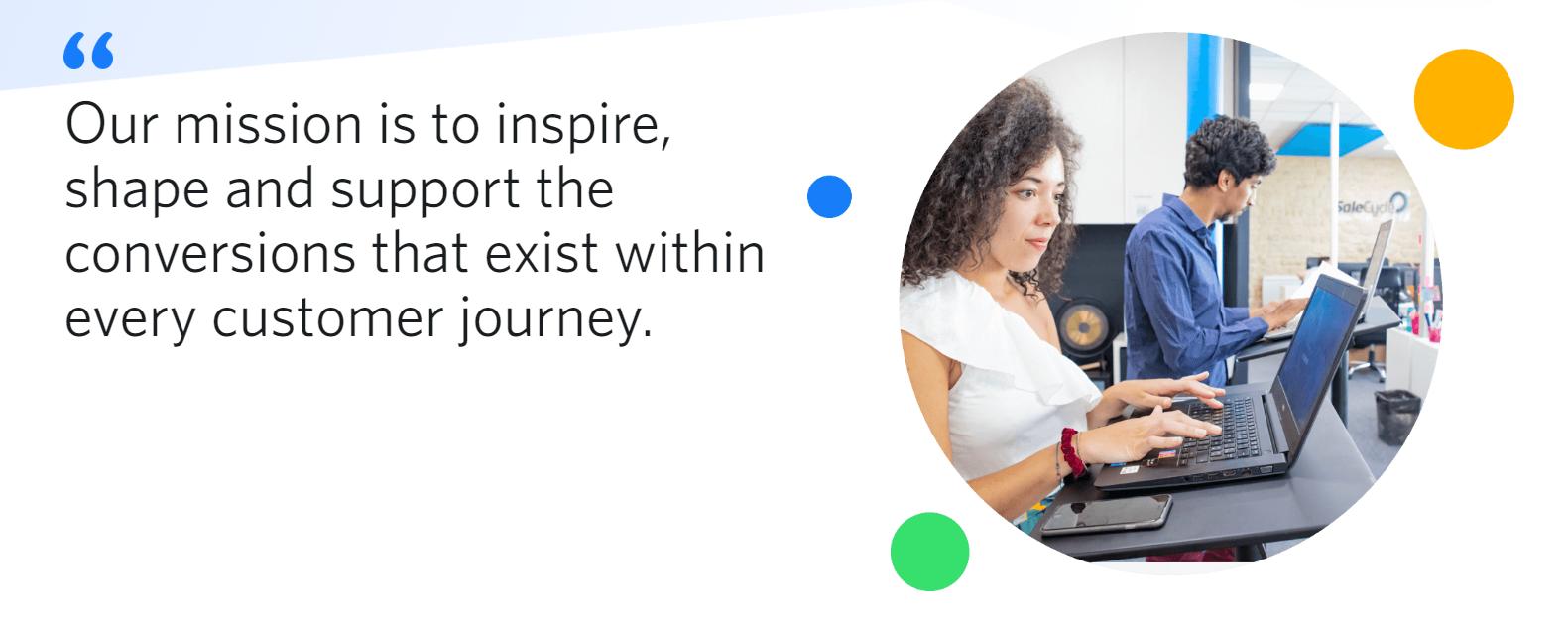 SalesCycle website screenshot quote