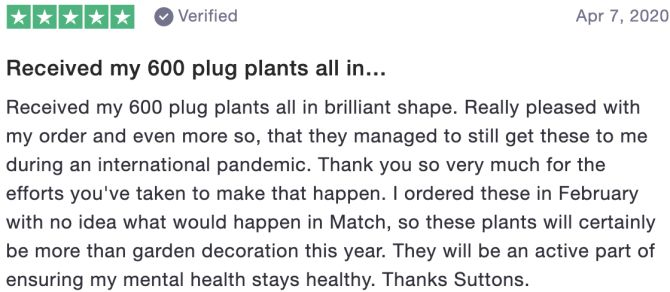 Received my 600 plug plants all in…
