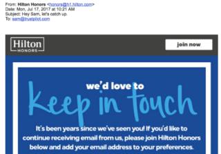 Marketing, email, personalizzazione
