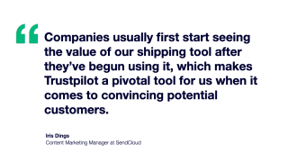 SendCloud quote social proof