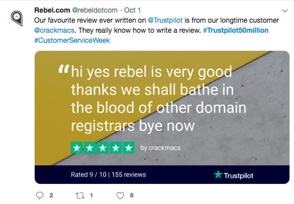 Rebel trustpilot review