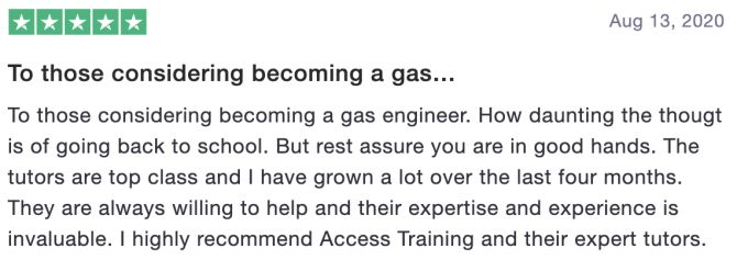 To those considering becoming a gas