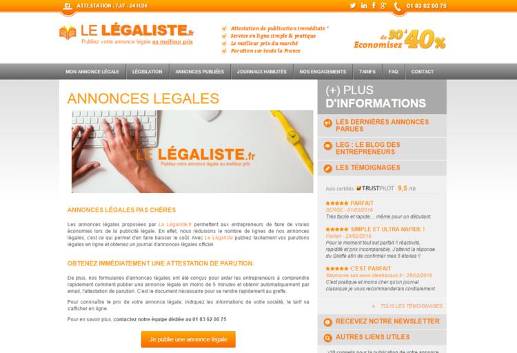site web le legaliste