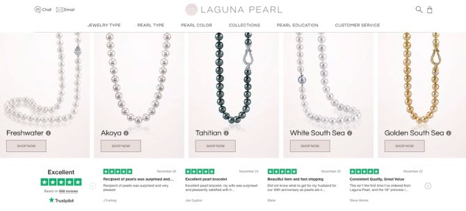 Laguna Pearl Features Reviews on Website