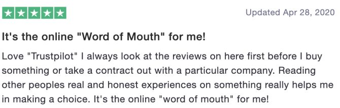 """It's the online """"Word of Mouth"""" for me!"""