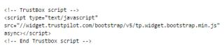 TrustBox+script