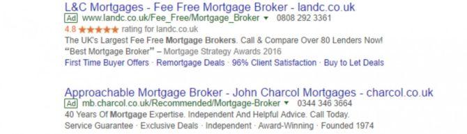 google seller ratings trustpilot