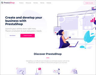 screenshot prestashop website 700x550