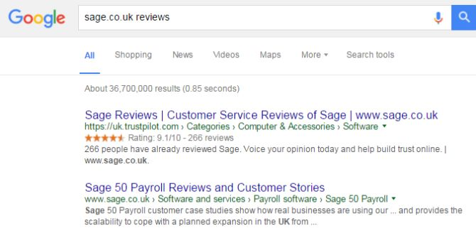 Google search results for Saga