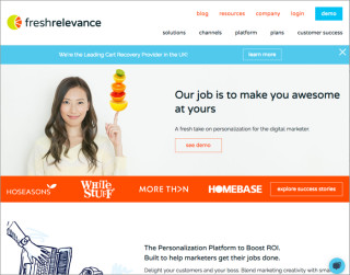 screenshot freshrelevance website 700x550