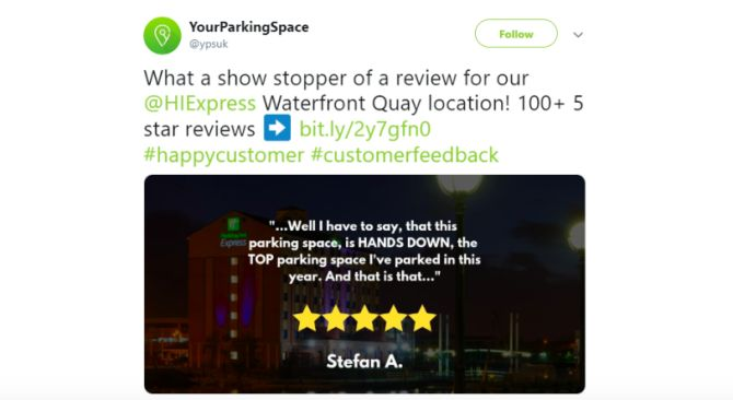 yourparkingspace twitter