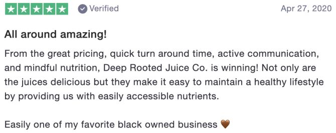 Review of Deep Rooted Juice Co.